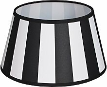 King Lampenschirm rund Streifen schwarz Vintage