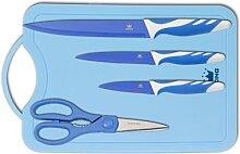 KING Messerset mit Schneidebrett 5-teilig (blau)