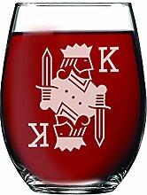 King und Queen ohne Stiel Wein Gläser, Pint Bier