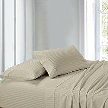 King Wasserbett Bettlaken, Beige, 100% Baumwolle,