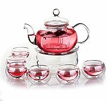 kingdao 27Oz Glas Filterung Tee Set Teekanne mit