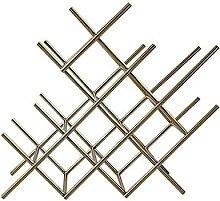 KINGEE Flaschenregal Aus Metall, Stapelbarer