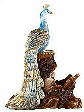 KINGEE Pfau Weinflaschenhalter, Skulptur Aus Harz