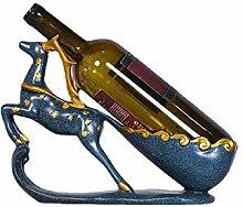 KINGEE Pferd Weinflaschenhalter, Wein
