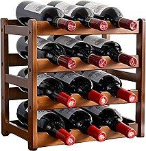 KINGEE Weinregal Aus Holz Für 12 Wein Flaschen,