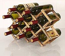 KINGEE Weinregal Für 10 Flaschen, Flaschenregal