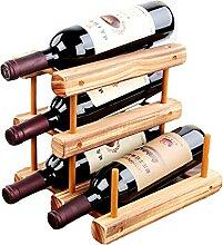 KINGEE Weinregal Für Bis Zu 12 Flaschen, Wein-