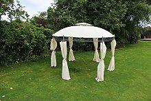 Kingfisher creme 3,5m rund Pavillon im Garten Möbel Shelter Party Zel