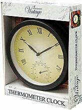 Kingfisher Garten Uhr und Thermometer