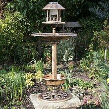 Kingfisher Vogelhaus mit Vogelbad, Kupfer-Design,