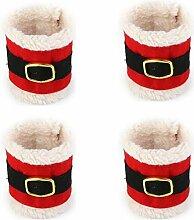 kingken 4Weihnachten Serviette Ringe Halter für Weihnachts Tisch Dekoration