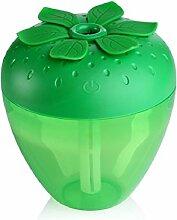 Kingko® 180ml Erdbeere Form USB Luftbefeuchter Hersteller von Diffusor Mist Luftreiniger (Grün)