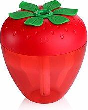 Kingko® 180ml Erdbeere Form USB Luftbefeuchter Hersteller von Diffusor Mist Luftreiniger (Rot)
