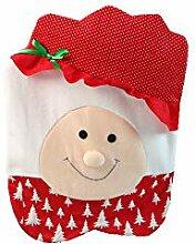 kingko® 2 Stück Weihnachten Mr & Mrs Santa Claus
