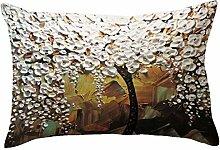 Kingko® 30X50cm Kissenbezug Buchstabe Drucken Kissen Kasten werfendes Sofa Taillen Kissen Abdeckungs Ausgangsdekor (E)