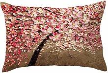 Kingko® 30X50cm Kissenbezug Buchstabe Drucken Kissen Kasten werfendes Sofa Taillen Kissen Abdeckungs Ausgangsdekor (F)