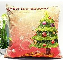 Kingko® 45*45cm Weihnachten Themed Druck Färben Sofa Bed Home Decor Kissenbezug (G)