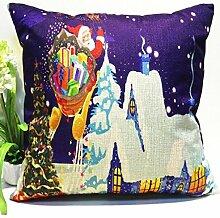 Kingko® 45*45cm Weihnachten Themed Druck Färben Sofa Bed Home Decor Kissenbezug (B)