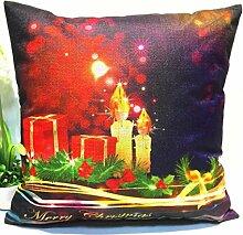 Kingko® 45*45cm Weihnachten Themed Druck Färben Sofa Bed Home Decor Kissenbezug (E)