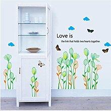 Kingko® Abnehmbare Blumen-Drucken-Wand-Aufkleber-Abziehbild-Dekor DIY-Kunst-Dekoration