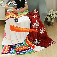 kingko Christmas Blanket Flanell Stoff Sofa Bettdecke 80X150CM (D)