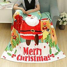 kingko Christmas Blanket Flanell Stoff Sofa Bettdecke 80X150CM (B)