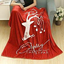 kingko Christmas Blanket Flanell Stoff Sofa Bettdecke 80X150CM (H)