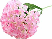 Kingko® Künstliche Hydrangea Blumen Bouquet Reale Touch Silk Hochzeit Braut Zubehör Home Party Dekor (Rosa)