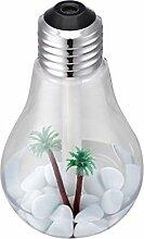 Kingko® Lamp Shaped Luftbefeuchter Startseite Aroma LED Luftbefeuchter Luftdiffusor Luftreiniger Zerstäuber (Silber)