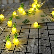 Kingko Solar LED Ananas, 20 LED Warmweiß Außen