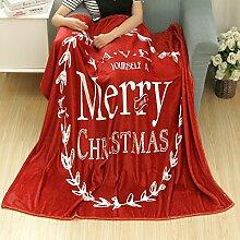 kingko Weihnachten Decke Flanell Stoff Sofa Bettdecke 80X150CM (A)