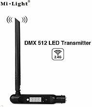 kingled–Antenne Sender DMX512,-2.4GHz, 16Zonen-Kontrolle, Spannung DC5V 500mA, Stromstärke, Abstand Kontrolle bis 30m, Maße 188x 47x 23mm, Serie Milight, Typ futd01, Cod. 2220
