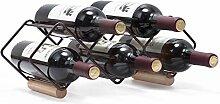 KINGRACK Tisch-Weinregal für 5 Flaschen,