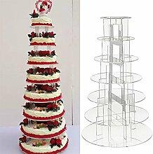 KingSaid Tortenständer Cupcake Ständer 7 Etagere