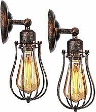 KINGSO 2er Wandlampe Industrial E27 Vintage