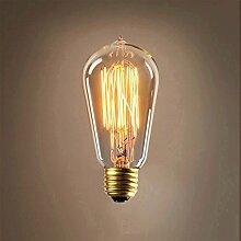 KingSo 40W ST64Glühlampe Edison Leuchtmittel