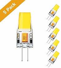 KINGSO 5er Pack G4 LED Lampen 300lm 3W ersetzt 30W