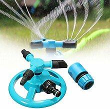 KINGSO Bewässerung Rotierender Rasensprenger mit Schnellkupplung Rohr-1/2, automatische Bewässerung für Rasen Rasen Garten