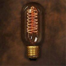KINGSO E27 40W Edison Lampe T45 Radial Vintage