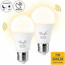 KINGSO E27 LED Glühbirne mit Bewegungsmelder und