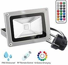 KINGSO RGB Strahler 10W LED Scheinwerfer mit