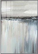 kingxqq Minimalistische Abstrakte Grau Segel