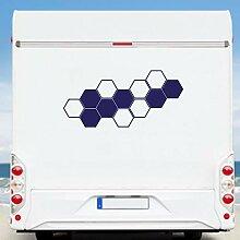 KINGZDESIGN® WA300 - Wohnmobil Aufkleber -
