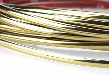 Kingzer chrom Zierleisten Strip Grill INNEN AUßEN Auto Styling 5mx4mm gold