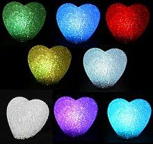 Kingzer Herz LED Lichterkette, Für Valentinstag, Weihnachten, Party, RGB