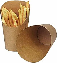 KINGZHUO 50 Stück Pommes Frites Halter 14 oz