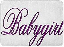 Kinhevao Badematte Babygirl Baby Girl Badezimmer