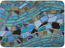 Kinhevao Badematte grün türkis blau Meer Glas