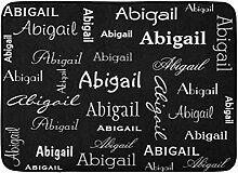 Kinhevao Badematte Ocean Monogram Black Name