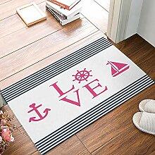 Kinhevao Benutzerdefinierte Fußmatten Anker Liebe